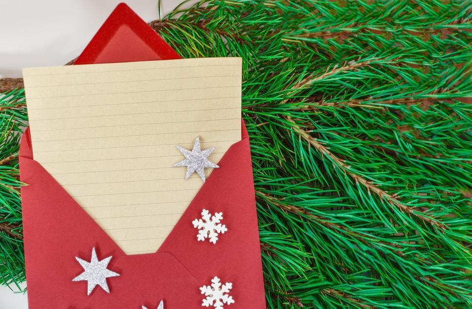 umschlag weihnachtskarte