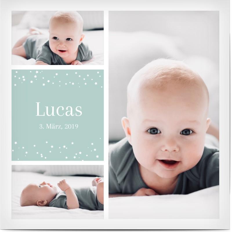 Danksagungskarte Geburt Junge Vorlage