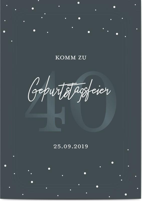 Einladung zum 40. Geburtstag Stars