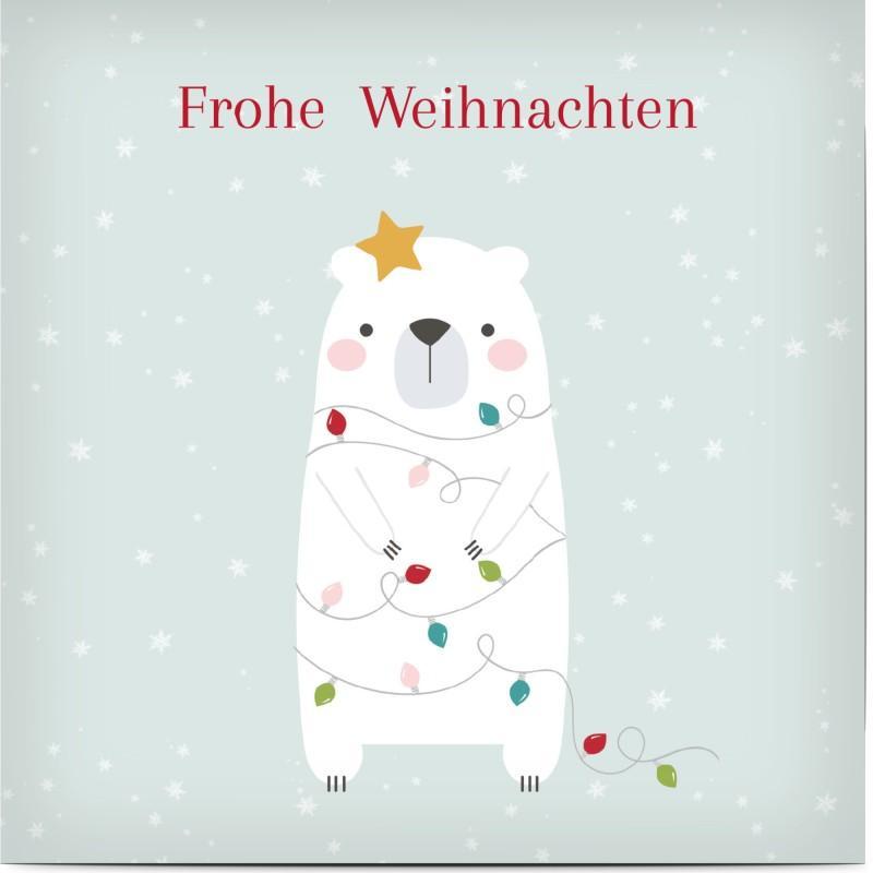 Lustige Weihnachtskarte im Comic Stil