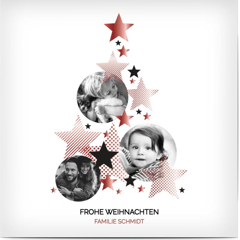 Weihnachtskarte gestalten: Vorlage