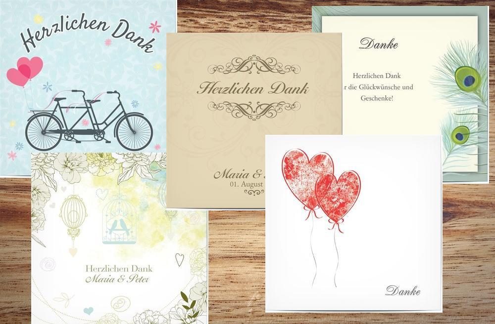 Danksagungskarten Die Danksagung Nach Der Hochzeit