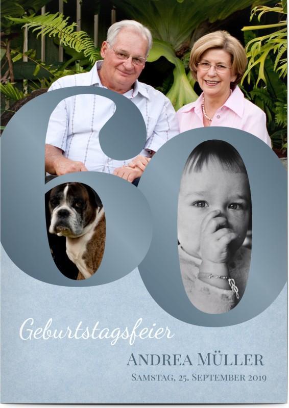 Einladung zum 60. Geburtstag: Collage