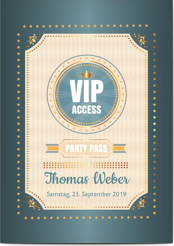Einladung zum 60. Geburtstag: VIP