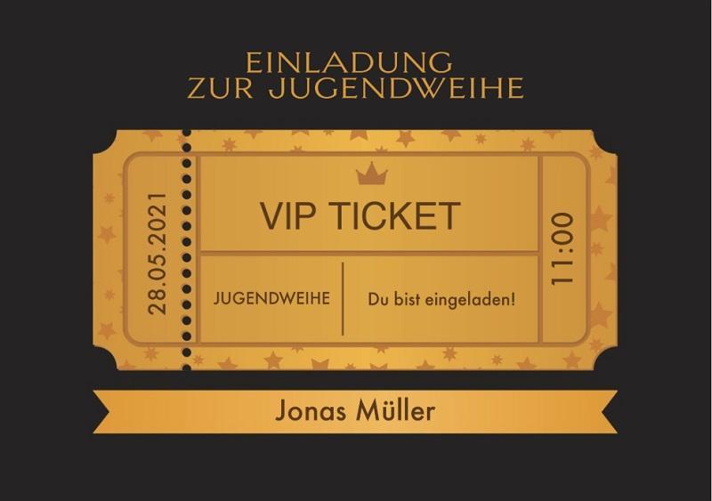 Einladungskarte zur Jugendweihe: VIP
