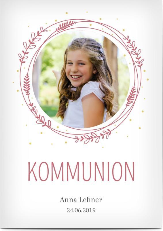 Kommunionseinladung für ein Mädchen
