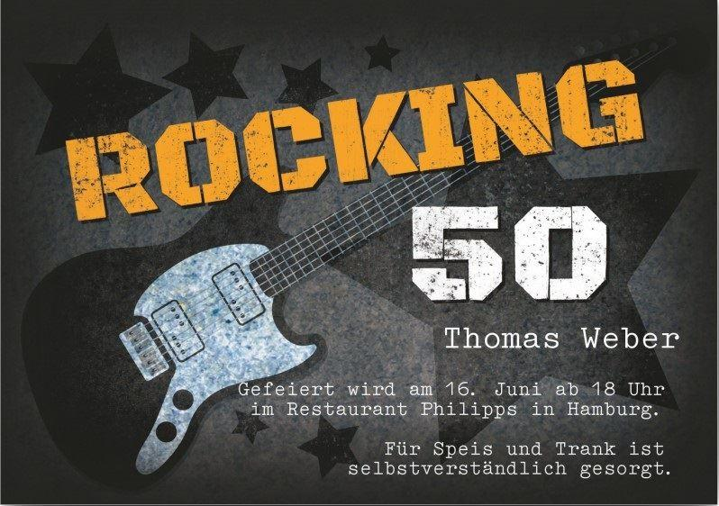 Einladung zum 50. Geburtstag: Rocking