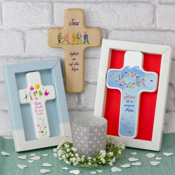 Kinderkreuz als Geschenkidee zur Taufe von Großeltern