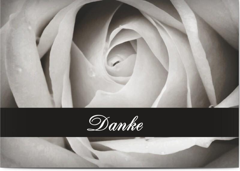 Trauerbilder: Trauerkarte mit Rose