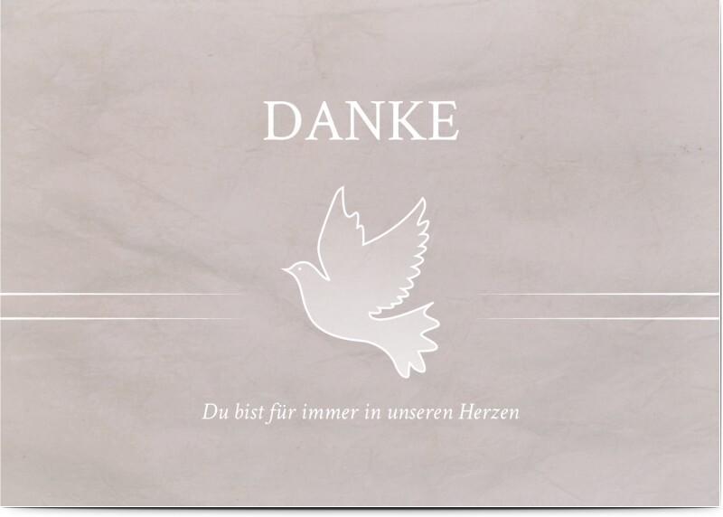 Trauer Bild: Trauerkarte mit Taube