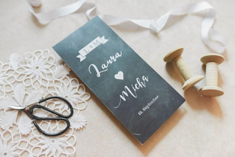 Einladung Hochzeit Text - Schieferoptik