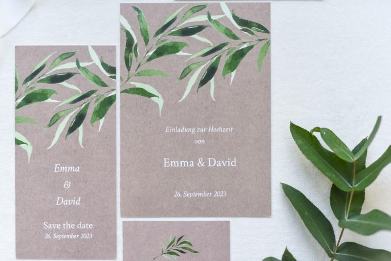 Einladungstext Hochzeit Greenery