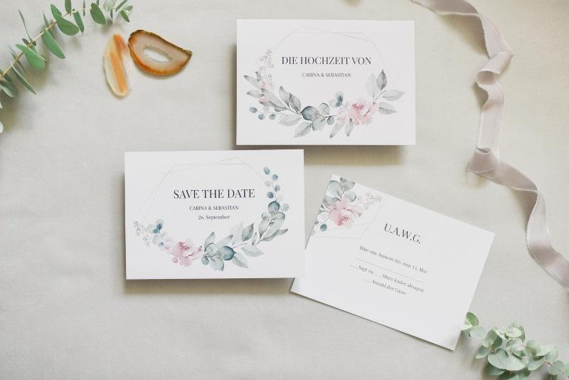 Einladungstext zur Hochzeit Eukalyptus