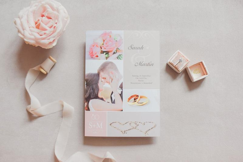 Hochzeitseinladungskarte mit Bild
