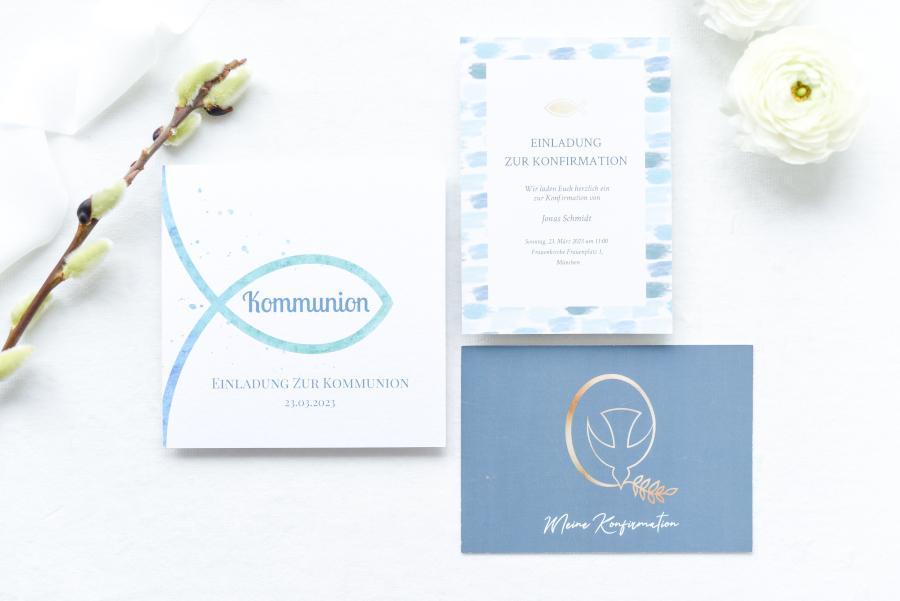 Kommunion 2021: Infos, Tipps und Ideen für die Einladungskarte