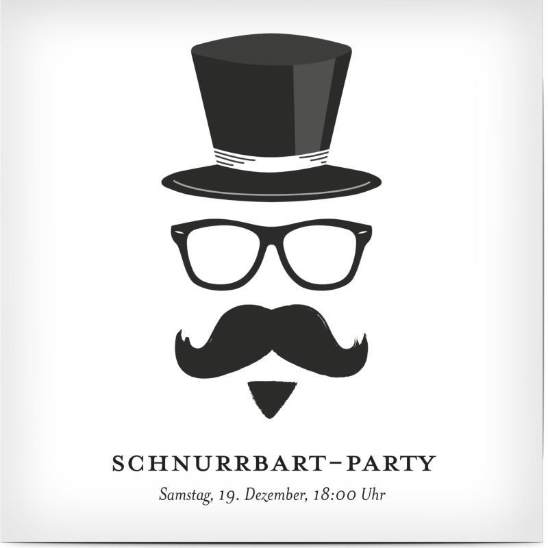 Einladungskarte Geburtstag lustig Schnurrbart