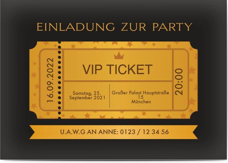 Geburtstagseinladung lustig VIP-Ticket