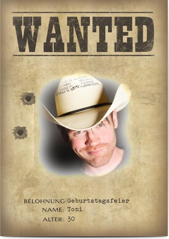 Geburtstagseinladung lustig Wanted